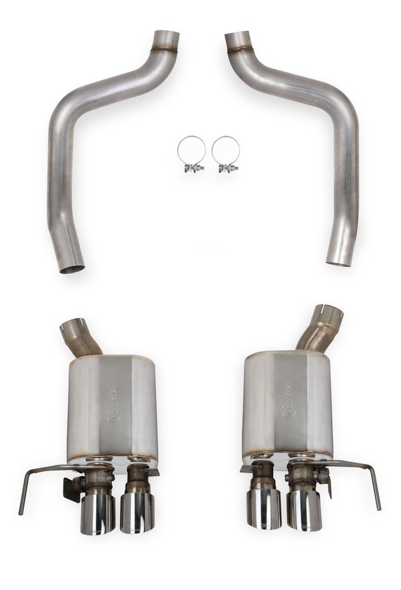 70401328-RHKR - Hooker BlackHeart Axle-Back Exhaust with NPP Dual Mode Mufflers Image
