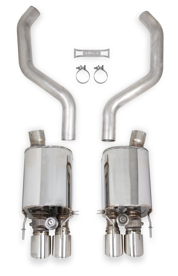 70401329-RHKR - Hooker BlackHeart Axle-Back Exhaust with Dual Mode (NPP) Mufflers Image