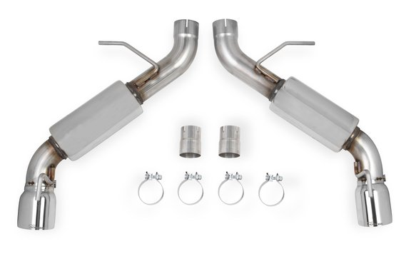 70401335-RHKR - Hooker BlackHeart Axle-Back Dual Exhaust System (With Mufflers) Image
