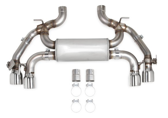 70401336-RHKR - Hooker BlackHeart Axle-Back Single Transverse Dual Mode Exhaust Image