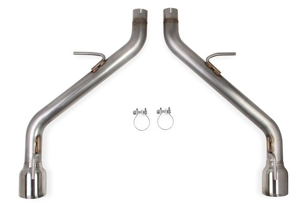 70401338-RHKR - Hooker BlackHeart Axle-Back Exhaust Kit without Mufflers Image