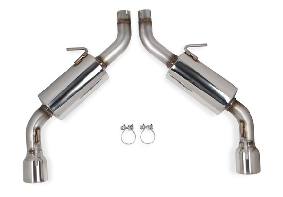 70401339-RHKR - Hooker BlackHeart Axle-Back Exhaust Kit with Mufflers Image