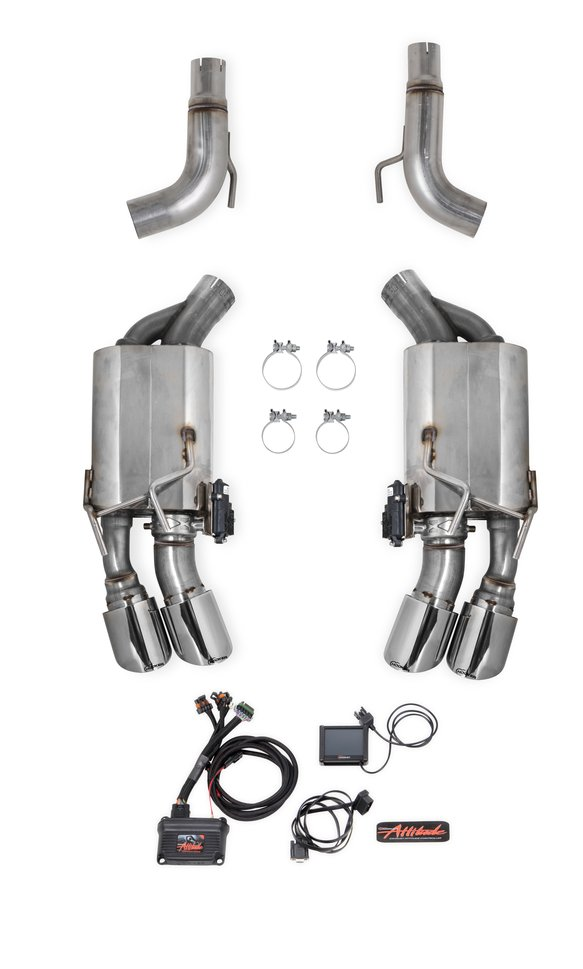 70401340-RHKR - Hooker BlackHeart Multi-Mode Axle-Back Exhaust System Image