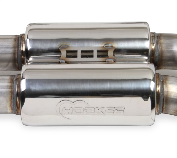 70501390-RHKR - Hooker BlackHeart RACE ONLY Dual Transverse Dual Mode Exhaust - additional Image