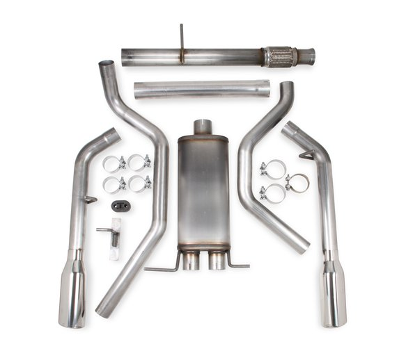705014136RHKR - Hooker BlackHeart Dual Cat-Back Exhaust Kit Image