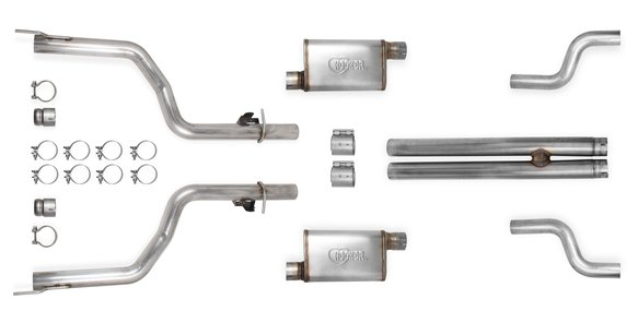 70502333-RHKR - Hooker BlackHeart Header-Back Race Exhaust System Image