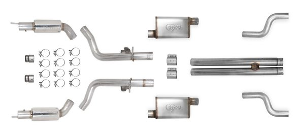 70502339-RHKR - Hooker BlackHeart Header-Back Race Exhaust System (w/Mufflers & Resonators) Image