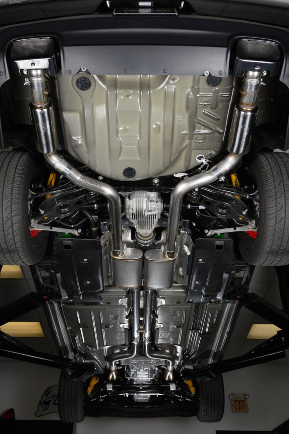 70502339-RHKR - Hooker BlackHeart Header-Back Race Exhaust System (w/Mufflers & Resonators) - additional Image