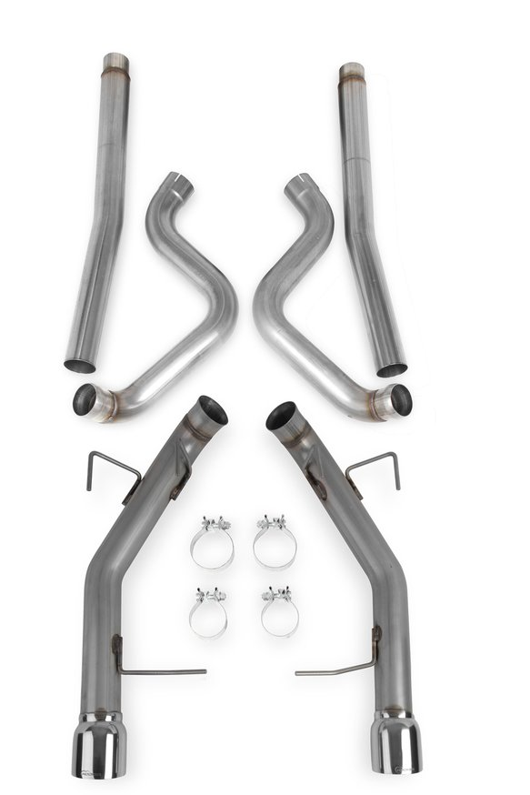 70503318-RHKR - Hooker BlackHeart Cat-Back Exhaust System (w/o mufflers) Image