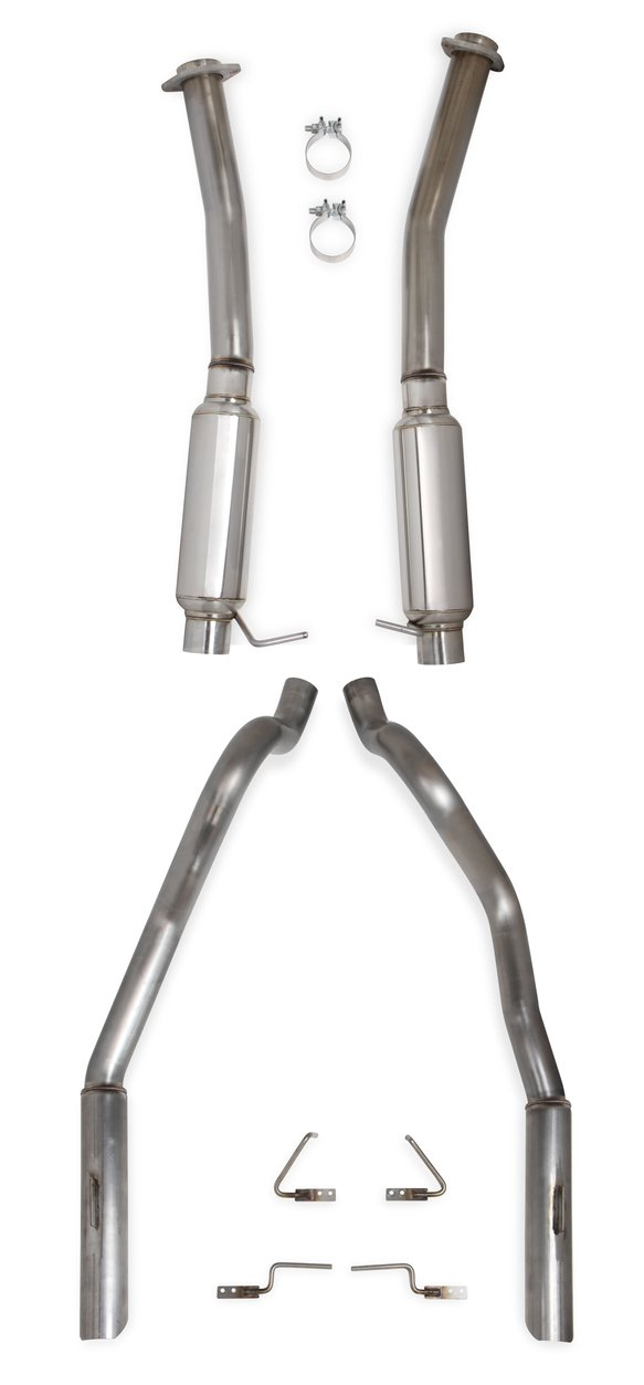 70503326-RHKR - Hooker BlackHeart Cat-Back Exhaust System with Mufflers Image