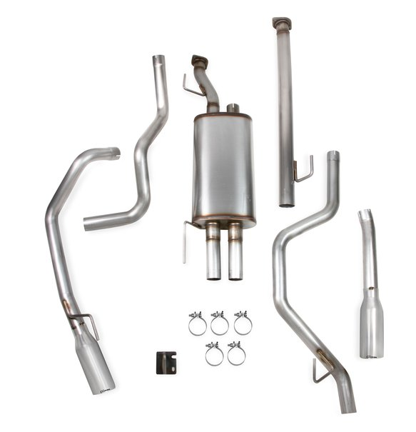 70504407-RHKR - Hooker BlackHeart Cat-Back Dual Split Rear Exit Exhaust System Image