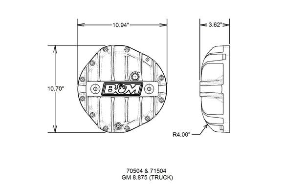 B&M Hi-Tek Aluminum Differential Cover for GM 8 875-inch 12-bolt Truck