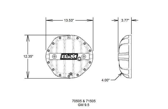 B&M Hi-Tek Aluminum Differential Cover for GM 9 5-inch 14-bolt