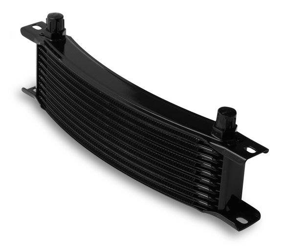 71006AERL - Earls 10 Row Oil Cooler Core, -6 AN male fitting size, black narrow Image