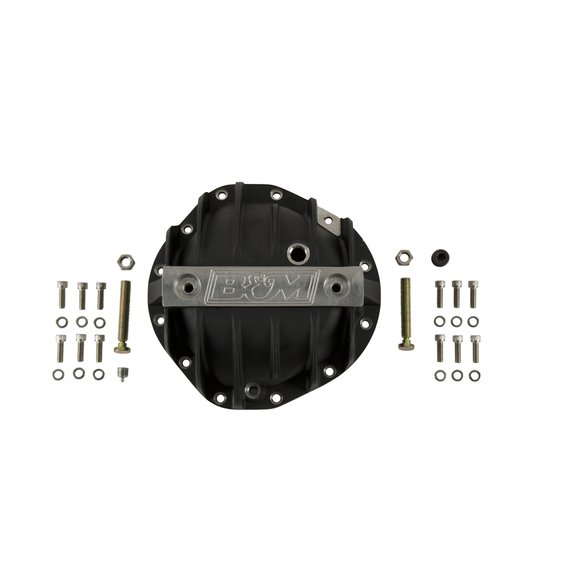 71504 - B&M Hi-Tek Aluminum Differential Cover for GM 8.875-inch 12-bolt Truck - Black - additional Image