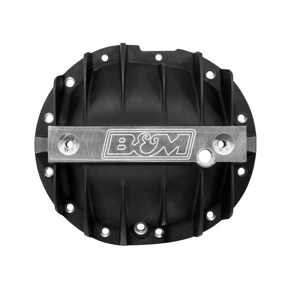 71506 - B&M Hi-Tek Aluminum Differential Cover for GM Silverado/Sierra 1500 - Black - additional Image