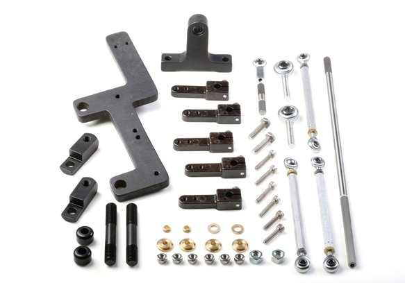7166WND - Weiand Side Mounted Carb Linkage for 6-71/8-71 Superchargers Image