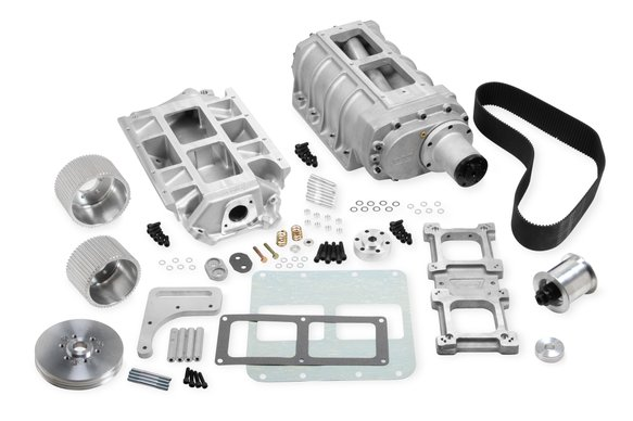 7386 - Weiand 8-71 Supercharger Kit - Satin Image