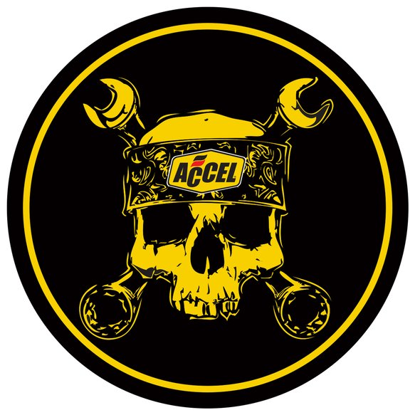74839G - Accel Skull Decal Image