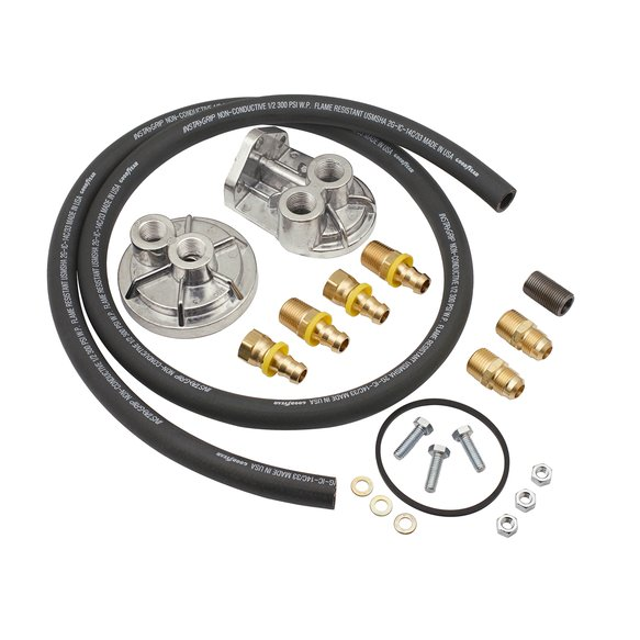 7680 - Oil Filter Relocation Kit - Single Filter - Hardware Included Image