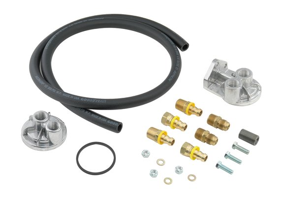 7682 - Mr. Gasket Oil Filter Relocation Kit - Single Filter Image