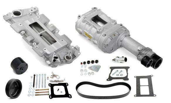 7740-1 - Weiand 144 Pro-Street Supercharger Kit - Satin Image
