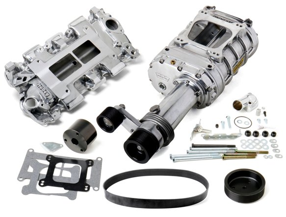 7750-1 - Weiand 144 Pro-Street Supercharger Kit - Polished Image