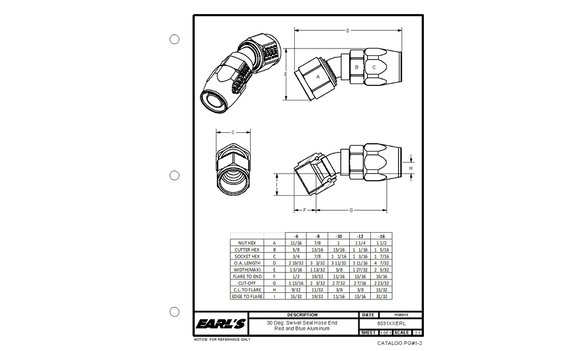 803112ERL - Earls Swivel-Seal® Hose End - additional Image