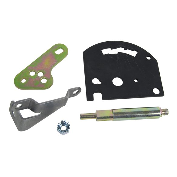 80713 - B&M Gate Plate, Shift Lever & Cable Bracket for Powerglide Transmissions - additional Image