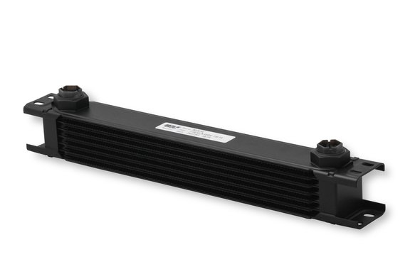 807ERL - Earls UltraPro Oil Cooler - Black - 7 Rows - Extra-Wide Cooler - 10 O-Ring Boss Female Ports Image