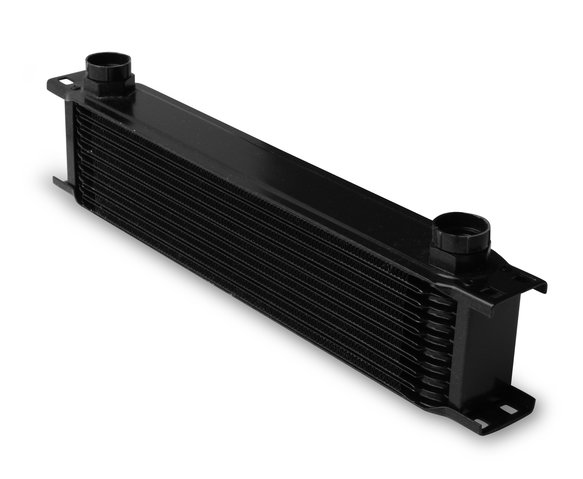 81000AERL - Earls Temp-A-Cure Oil Cooler - Black - 10 Rows - Extra-Wide Cooler -10 O-Ring Boss Female Ports Image