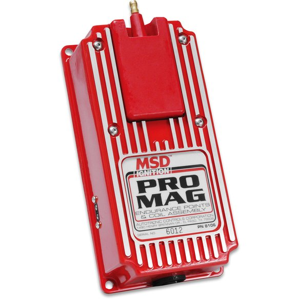8106 - Pro Mag 12/20 Amp Electronic Points Box, Red Image