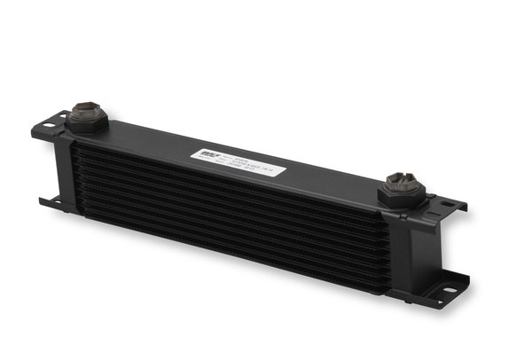 810ERL - Earls UltrPro Oil Cooler - Black - 10 Rows - Extra-Wide Cooler - 10 O-Ring Boss Female Ports Image