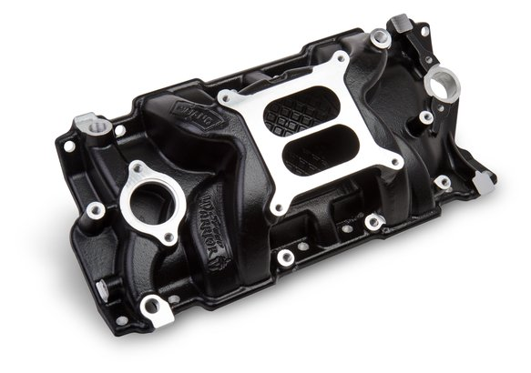 8150BK - Weiand Speed Warrior Intake - Chevy Small Block V8 - Black Ceramic Coated Image