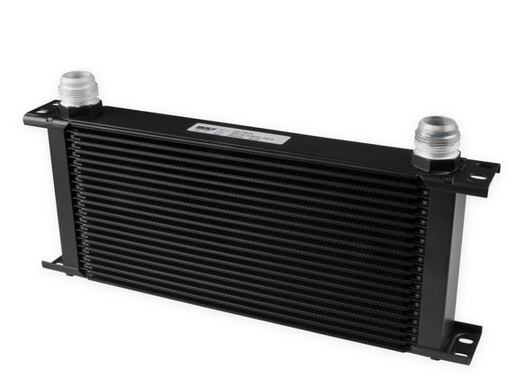 820-16ERL - Earls UltraPro Oil Cooler - Black - 20 Rows - Extra-Wide Cooler - 16 AN Male Flare Ports Image