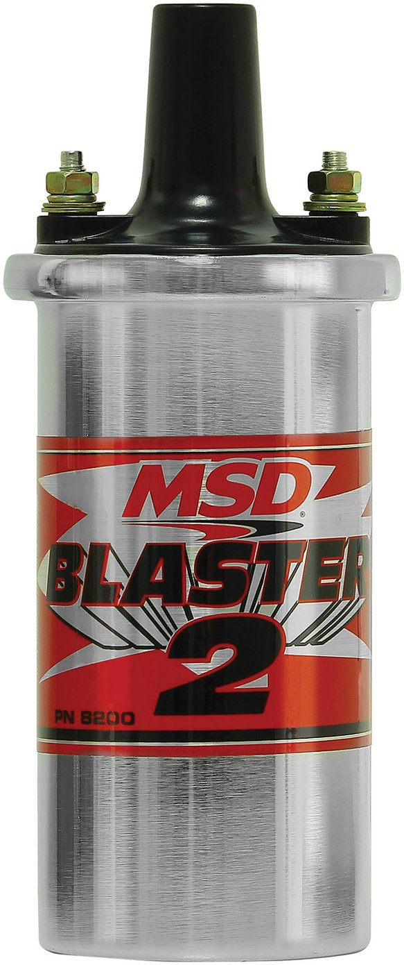 8200MSD - MSD Ignition Coil Canister Style (w/ballast hardware) Blaster 2 Series, Chrome, Individual Image