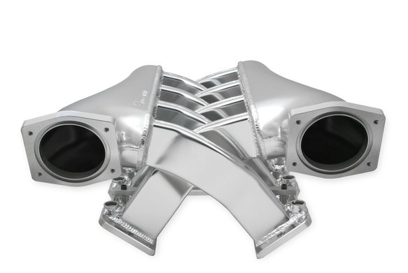 820201 - Sniper EFI Fabricated Intake Manifold Dual Plenum 92mm GM LS1/2/6, and Fuel Rail Kit - Silver Image