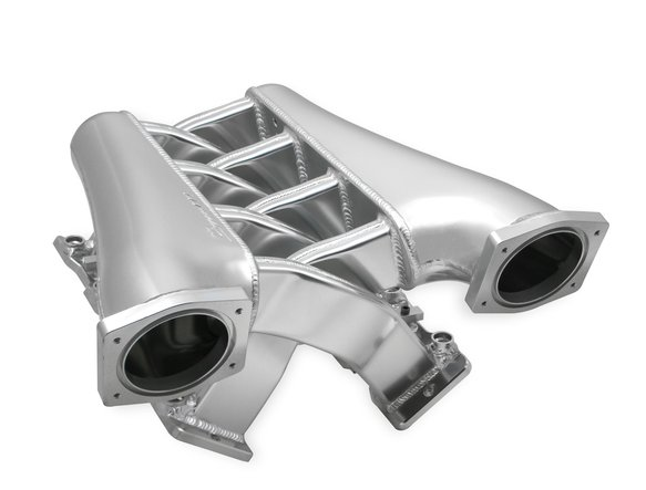 820201 - Sniper EFI Fabricated Intake Manifold Dual Plenum 92mm GM LS1/2/6, TB spacers, and Fuel Rail Kit - Silver - additional Image