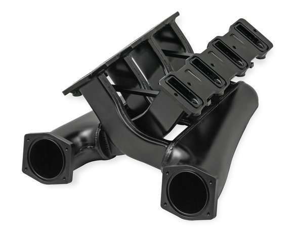 820202 - Sniper EFI Fabricated Intake Manifold Dual Plenum 92mm GM LS1/2/6, TB spacers, and Fuel Rail Kit - Black - additional Image