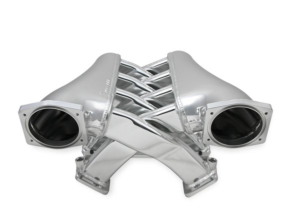 820241 - Sniper EFI Fabricated Intake Manifold Dual Plenum 102mm GM LS1/2/6, TB spacers, and Fuel Rail Kit - Silver Image