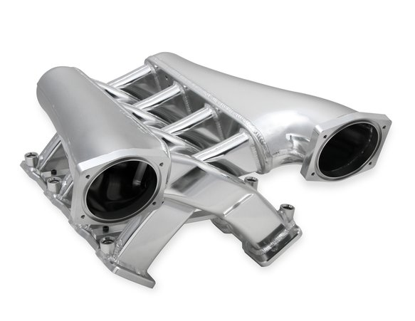 820241 - Sniper EFI Fabricated Intake Manifold Dual Plenum 102mm GM LS1/2/6, TB spacers, and Fuel Rail Kit - Silver - additional Image
