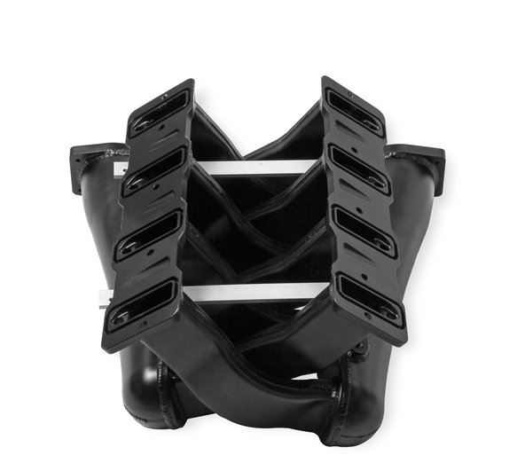 820242 - Sniper EFI Fabricated Intake Manifold Dual Plenum 102mm GM LS1/2/6, TB spacers, and Fuel Rail Kit - Black - additional Image