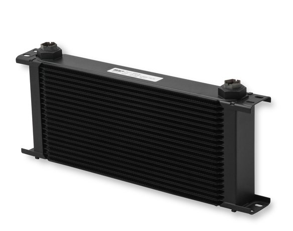 820ERL - Earls UltraPro Oil Cooler - Black - 20 Rows - Extra-Wide Cooler - 10 O-Ring Boss Female Ports Image