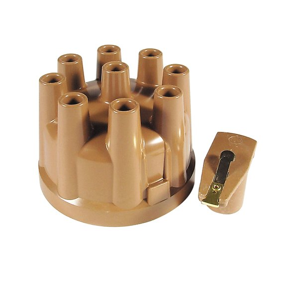 8220ACC - Distributor Cap & Rotor Kit - Female Socket Style - Tan Image