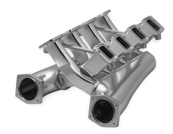 822201 - Sniper EFI Fabricated Intake Manifold Dual Plenum 92mm GM LS3/L92, TB spacers, and Fuel Rail Kit - Silver - additional Image