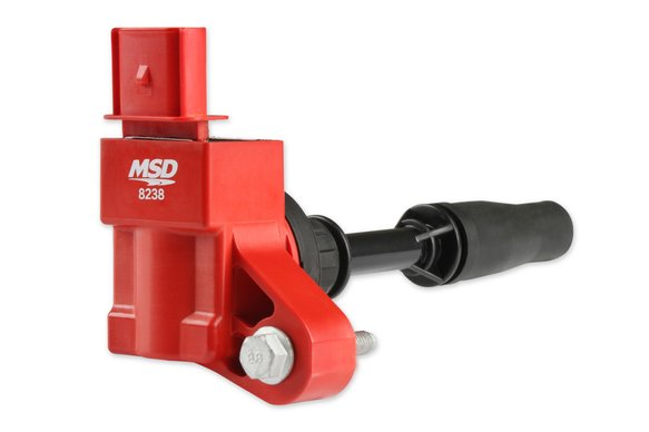 8238 - MSD Blaster Ignition Coil, 2013-2020 GM 4-cylinder Engines, Red, Individual Image