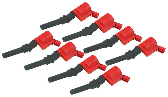 82428 - MSD Ignition Coils 1998-2014 Ford 4.6L/5.4L 2-valve engines, Red, 8-pack Image