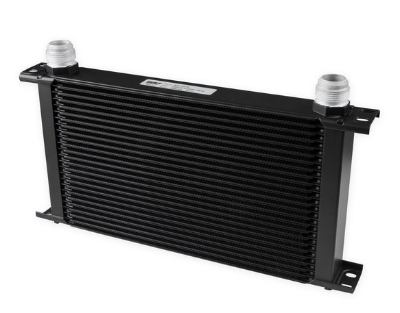 825-16ERL - Earls UltraPro Oil Cooler - Black - 25 Rows - Extra-Wide Cooler - 16 AN Male Flare Ports Image