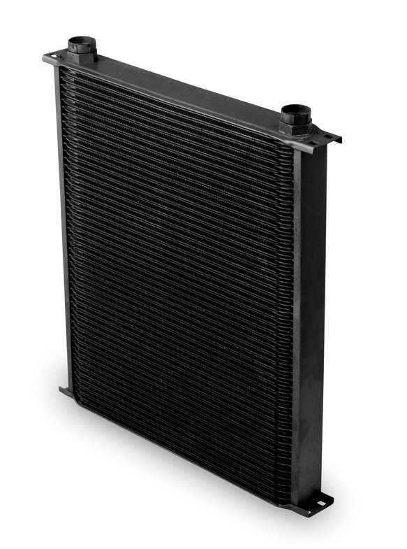 82500AERL - Earls Temp-A-Cure Oil Cooler - Black - 25 Rows - Extra-Wide Cooler -10 O-Ring Boss Female Ports Image