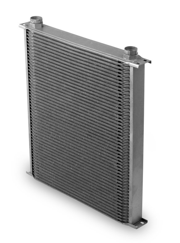 82500ERL - Earls Temp-A-Cure Oil Cooler - Grey - 25 Rows - Extra-Wide Cooler -10 O-Ring Boss Female Ports Image